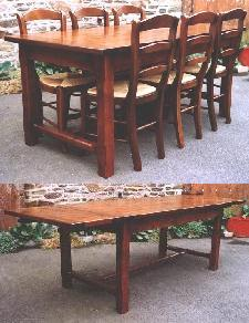 Table de Ferme 2 allonges