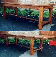 Table de Ferme 225x90 avec allonges