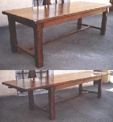 Table de Ferme 230x95 avec allonges